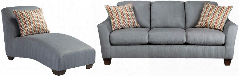 Hannin Collection 95802scl 2-piece Living Room Set With Sofa And Chaise Lounge In
