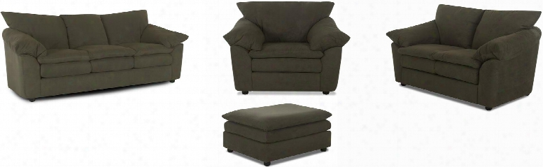 Heights E13-slcotto-ls 4-piece Living Room Set With Sofa Loveseat Chair And Ottoman In L1bre