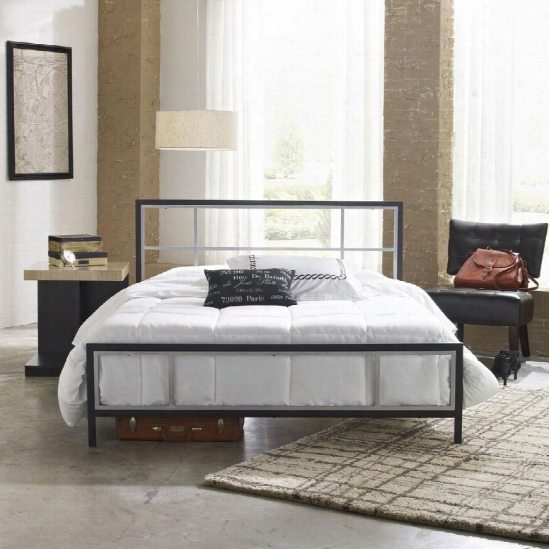 Joliet Collection Mfp01653tw Twin Size Platform Bed With Metal Frame And Modern Style In Black And
