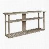 "Lincoln Park Collection 6281-0699 56"" Entertainment Console with Acacia Woods 1 Fixed Wood Shelf and Wood Slat Base in Light Wash"