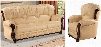 Mina 639-CA-S-C Living Room Set with Genuine Bonded Cappucino Leather Sofa and Chair in