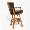 "Sedona Collection 1411RO-30 49"" Barstool with Swivel Stretchers and Cushioned Seat & Back in Rustic"