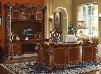 Vendome 92125SET 3 PC Office Furniture with Executive Desk + Executive Chair + Office Desk with Hutch in Cherry