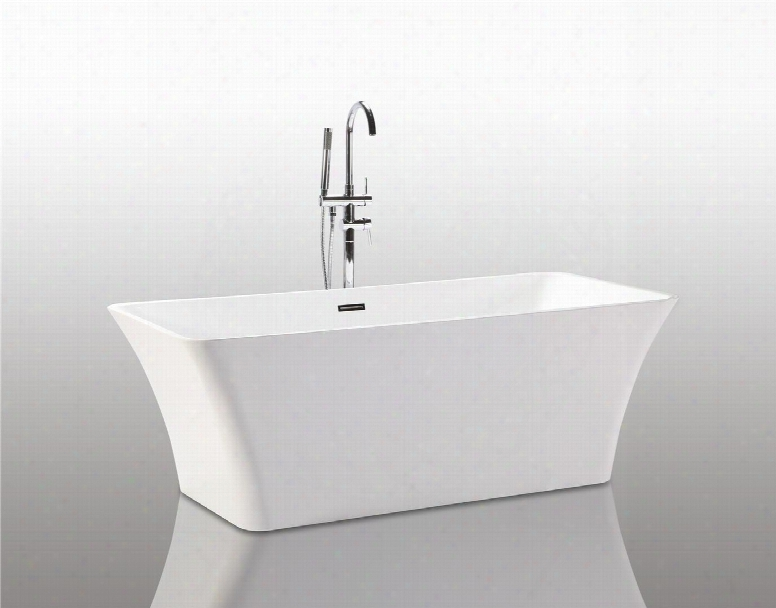 "We6840 67"" Acrylic Tub With 62 Gallon Capacity Adjustable Leveling Legs And Drain Included In"