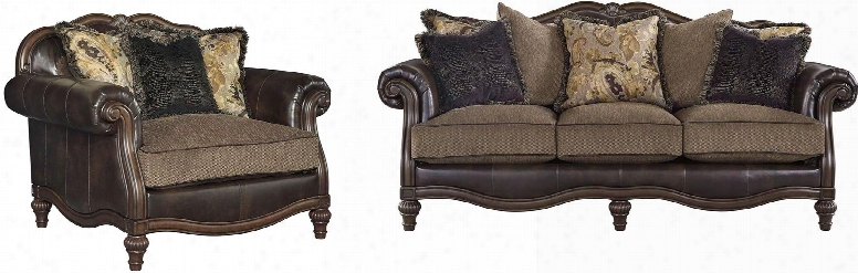 Winnsboro Collection 55602sc 2-piece Living Room Set With Sofa And Chair And A Half In