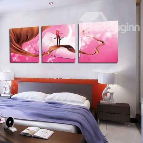 Sweet Kiss On Silk 3-piece Cross Film Wall Art Prints