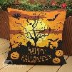 Chic Happy Halloween Print Throw Pillow Case