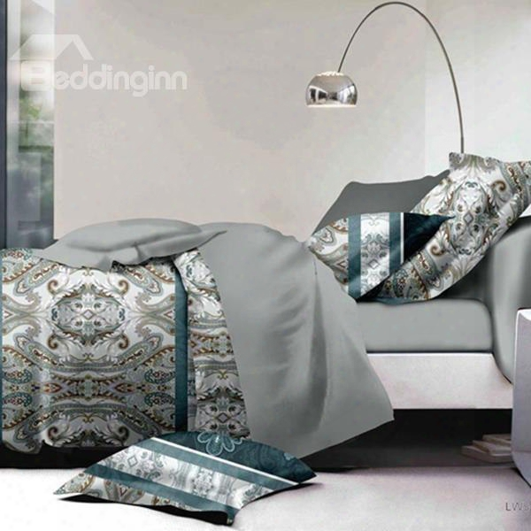 Retro Style Luxurious Soft Polyester 2-piece Pillow Cases