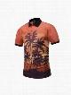 Coconut Tree Printing Polyester Round Neck Orange Men's 3D T-Shirts