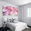 Pink Warm Leaves Pattern Design Framed Ready to Hang Wall Art Prints