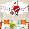 Christmas Father Printed Hanging 5-Piece Canvas Eco-friendly and Waterproof Non-framed Prints