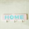 Sweet Home Pattern Acrylic Solid Glue Bathroom Hooks