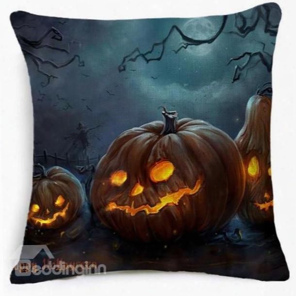 Pumpkin Halloween Monster Pattern Creative Car Pillow