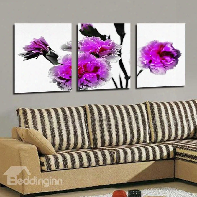 New Arrival Delicate Purple Flowers Canvas Wall Prints