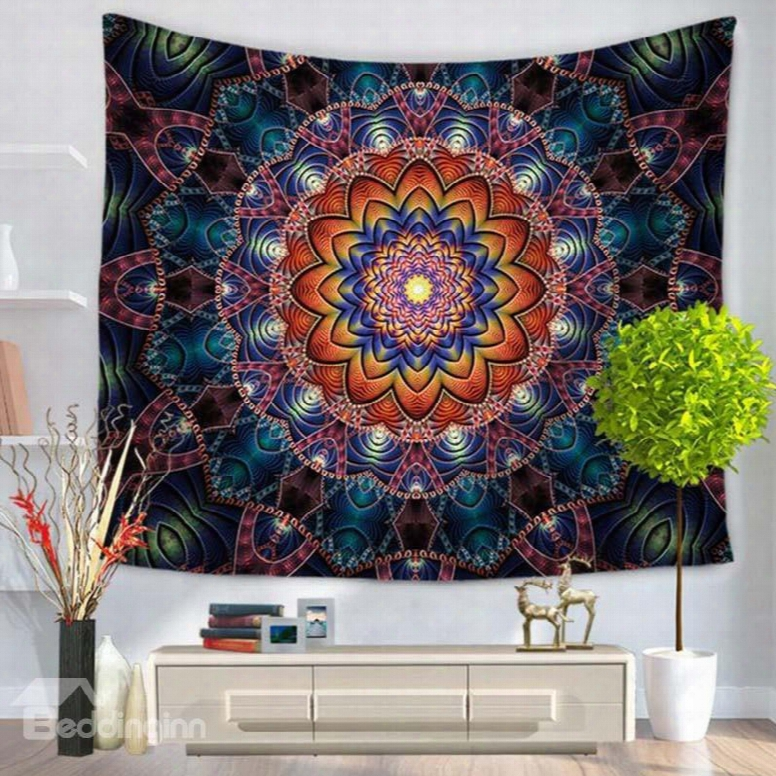 Luxury Mandala Pattern Ethnic Style Hanging Wall Tapestries
