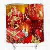 Christmas Gifts and Candy Printing Christmas Theme 3D Shower Curtain