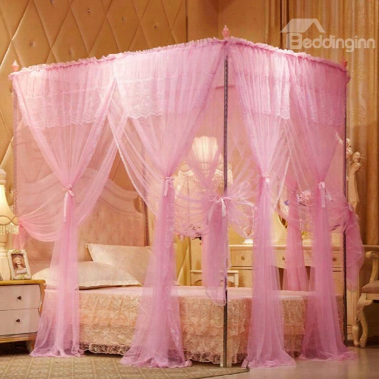 Princess Style Double Encryption Thickening Square Polyester Mosquiot Bed Nets