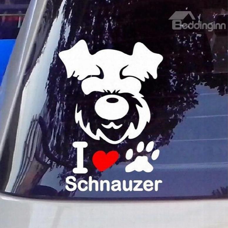 Cute Dog Face Full Body Creative Car Sticker