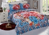 Noble Red Peony Print Polyester 4-Piece Duvet Cover Sets
