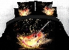 Onlwe 3D Colorful Rock Guitar and Beating Note Cotton 4-Piece Bedding Sets/Duvet Covers