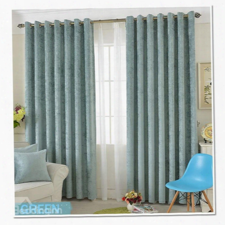 Blackout And Dust-proof Polyester Chenille Modern And Fashion Room Curtains