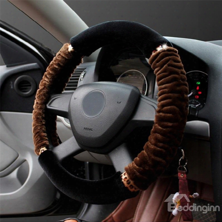 Warm Super Soft Plush Concise Designed Steering Wheel Counterbalance