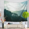 Mountain Scenery at Sunset Time Nature Pattern Decorative Hanging Wall Tapestry