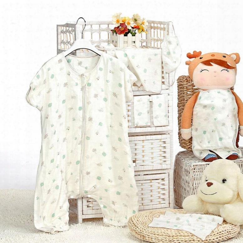 Creative Owl Tree Printing Bamboo Fiber Baby Sleeping Bag