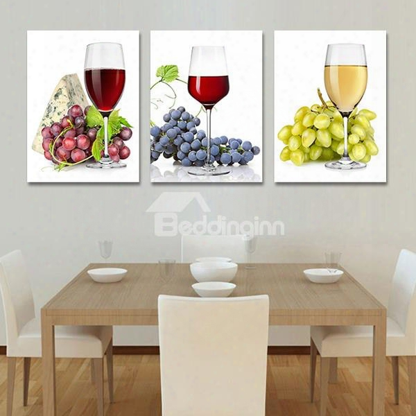 Delicious Fruits 3-piece Crystal Film Art Wall Print
