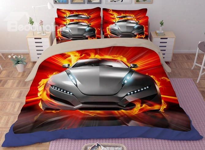 Sport Car 3d Printed Polyester Bedding Sets/duvet Covers