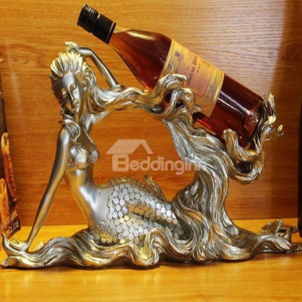 Gorgeous Mermaid Resin 1-bottle Wine Rack Bottle Holder