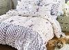 Cute Stripe Heart Zebra Head Printing 4-Piece Cotton Duvet Cover Sets
