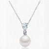 Women' s Fashion Zircon Pearl Pendant Necklace