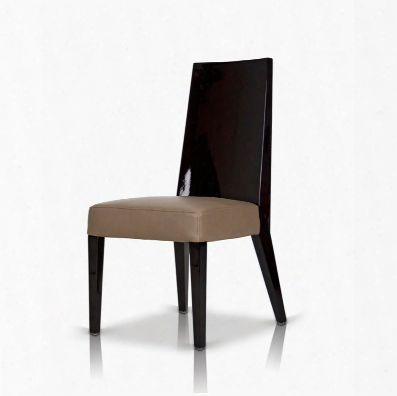 Noble Modern Dark Brown Veneer Chair