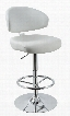 T1034 Eco-Leather White Contemporary Bar Stool