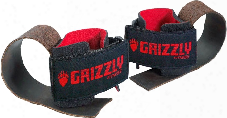 Grizzly Fitness Deluxe Leather Lifting Straps - 1 Pair