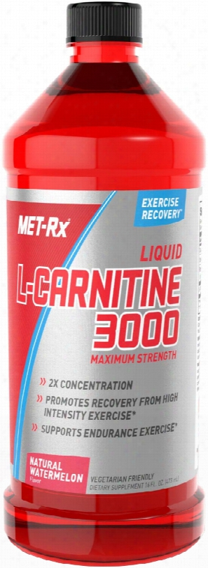 Met-rx Liquid L-carnitine 3000 - 16 Fl. Oz. Natural Watermelon