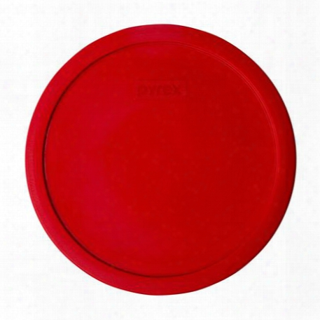 2.5-qt Round Plastic Lid, Red