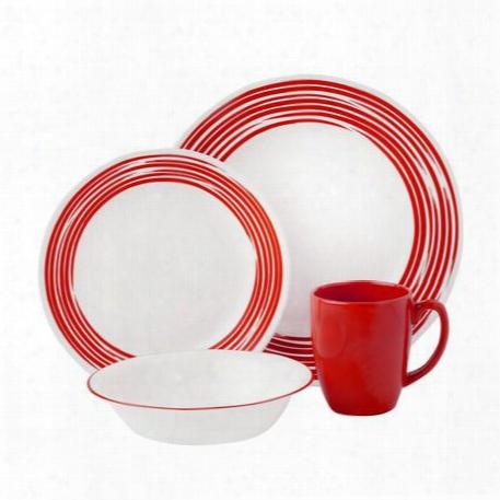 Boutiqusã¢â�žâ¢ Brsuhed 16-pc Dinnerware Set, Red