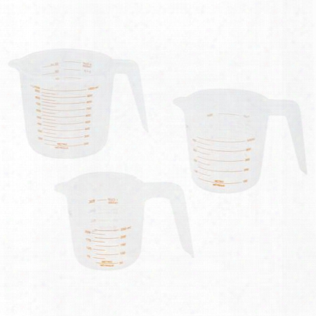 Essentials 3-pc White Measuring Cup Set