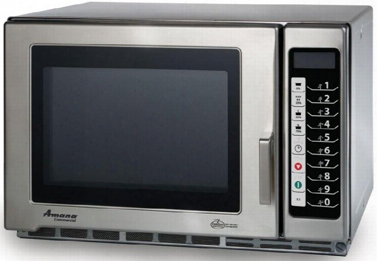 Rfs12ts Commercial Microwave Oven With 1.2 Cu. Ft. Capacity 5 Power Levels 100 Programmable Menu In Stainless