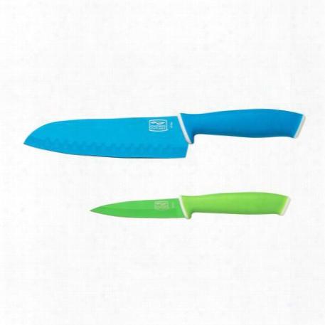 Vividã¢â�žâ¢ 2-pc Santoku / Paring Knife Set