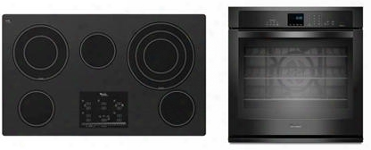 "2-piece Kitchen Package With G9ce3675xb 36"" Electric Cooktop And Wos92ec7ab 27"" Electric Single Wall Oven In"