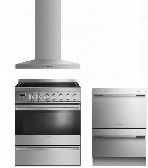 "3 Piece Kitchen Package With Or30sdpwsx1 30"" Dual Fuel Freestanding Range Dd24ddftx7 24"" Dishwasher And Hc30pht X1 30"" Range"