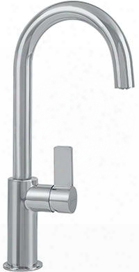 Ffb3180 Ambient Series Bar Kitchen Faaucet With Arc Spout And Side Lever In Satin