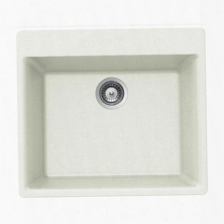 G-100 Cloud Quartztone Series Granite Topmount Single Bowl Kitchen Sink