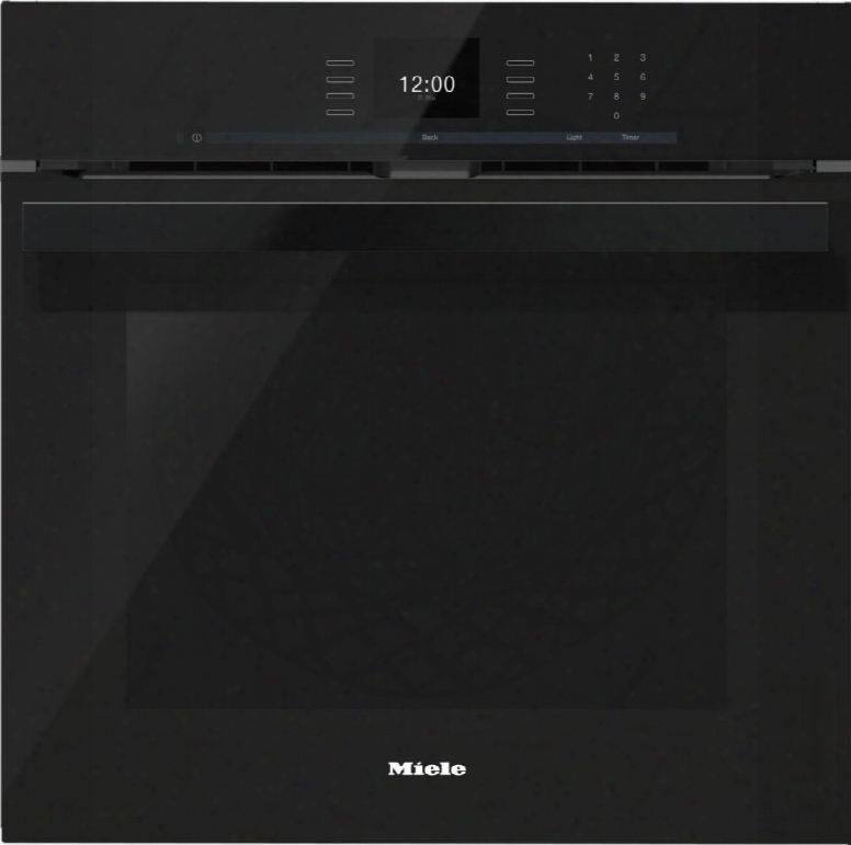"H6660bpobsw 24"" Pureline Sensortronic Series Ingle Electric Wall Oven With Convection Cooking Self Cleaning Mode Sensortronic Controls And Temperature"