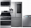 """4-Piece Stainless Steel Kitchen Package with RF265BEAESR 36"""" French Door Refrigerator NE59M6850SS 30"""" Electric Range DW80M9550US 24"""" Fully Integrated"""