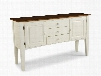 """Arlington AR-CA-6035-WHJC 64"""" Dining Room Sideboard Server With Tapered Legs Molding Detail And Decorative Hardware In White"""