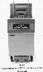 """FPRE480F480 80"""" RE80 Series Commercial Electric Fryer with 21KW Input Digital Controller Deep Cold Zone Open Frypot Design and Built In Filtration System in"""